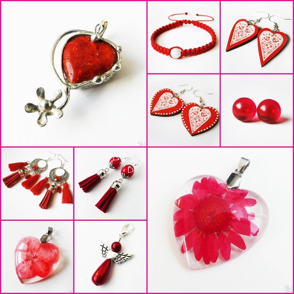 červené handmade šperky