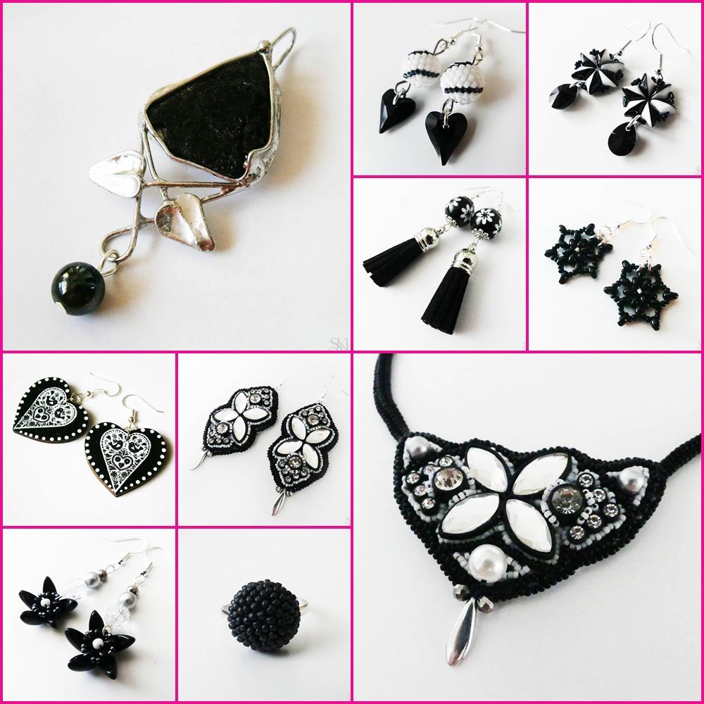 čierne handmade šperky