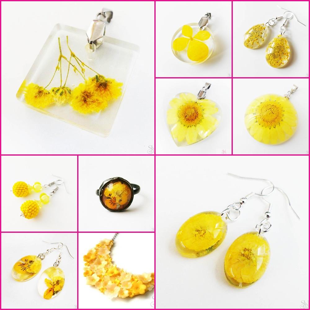 žlté handmade šperky