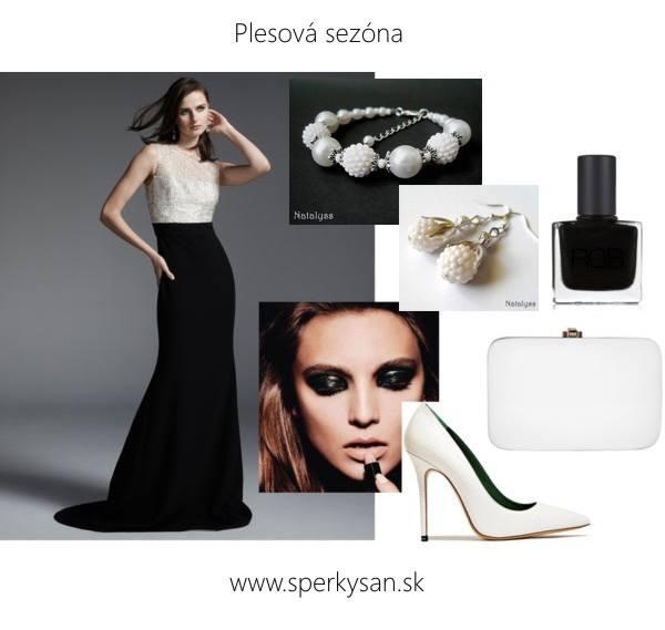 čierno-biely plesový elegantný outfit