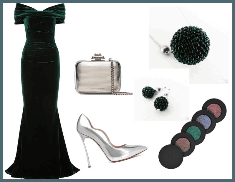 Zelené šperky na ples