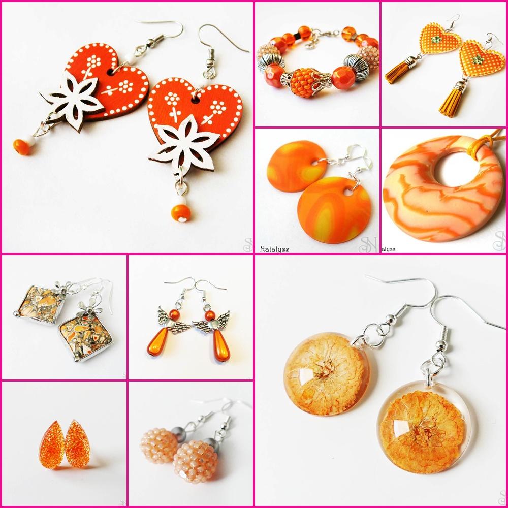 oranžové handmade šperky