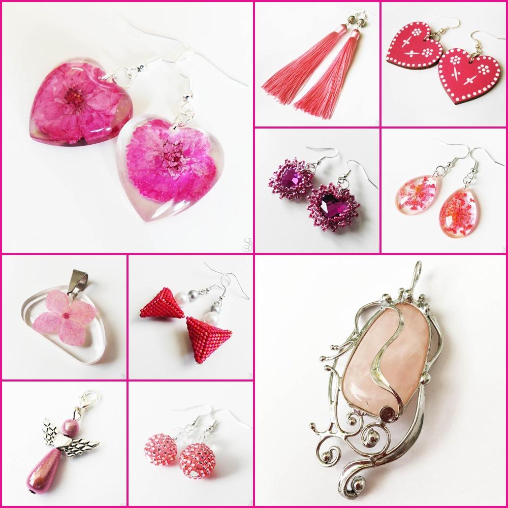 ružové handmade šperky