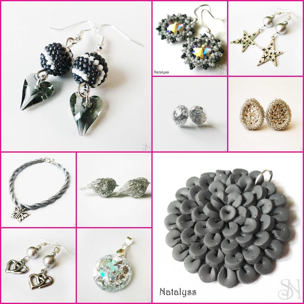 sivé handmade šperky